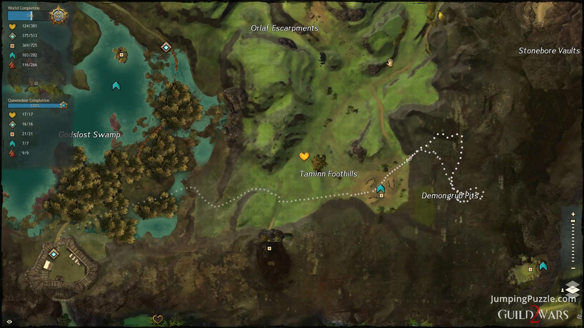 Demongrub Pits (Queensdale) - Jumping Puzzle Guide - Cemmos